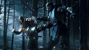 Sub-zero and Scorpion fighting from story trailer.