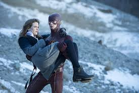 Barry Carries Caitlin away before F.I.R.E.S.T.O.R.M. goes nova.