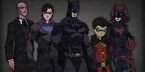 Alfred, Nightwing, Batman, Robin, Batwoman