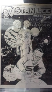 Stan Lee Meets Silver Surfer Art
